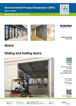 EPD Sliding and folding doors