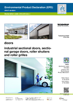 EPD Sectional doors, roller shutters