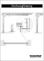 Technical drawing CarTeck sectional door