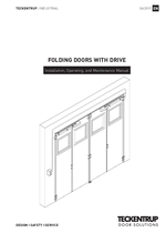 Installation Manual folding doors with motor